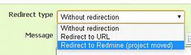 Available redirect types